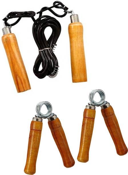 L'AVENIR Skipping Rope & Hand Grip Kit Gym & Fitness Kit