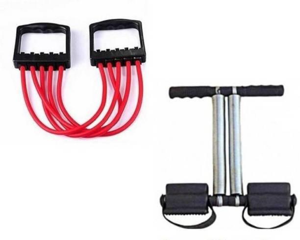 Proactive Sports & Fitness kit of Chest Expander Exerciser & Tummy Trimmer Gym & Fitness Kit