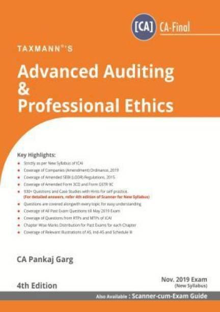Advanced Auditing & Professional Ethics (Ca-Final) (for Nov 2019 Exam-New Syllabus)