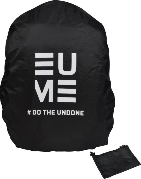 EUME Polyester 50 LTR Black Rain and Dust Cover with Pouch for Laptop Bag Waterproof, Dust Proof Laptop Bag Cover