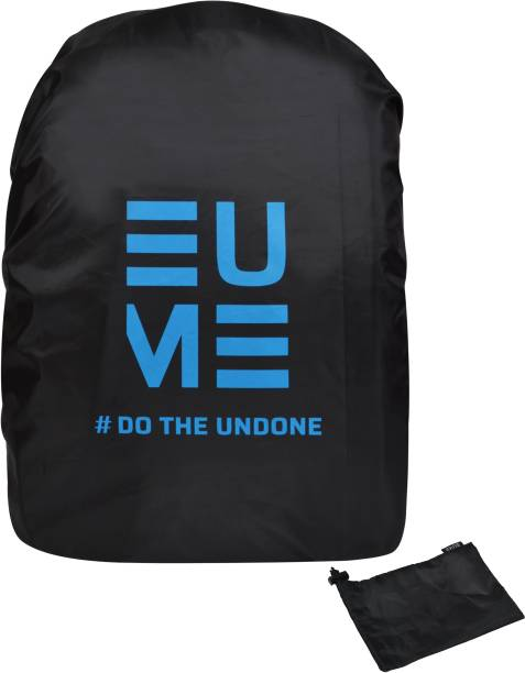 EUME Polyester 35 LTR Black Blue Rain and Dust Cover with Pouch for Casual & Dust Proof, Waterproof Laptop Bag Cover