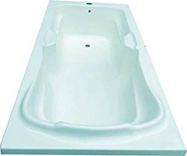 MADONNA Elegant Acrylic Rectangular Bath Tub (Cyan Blue, 6 ft) Free-standing Bathtub