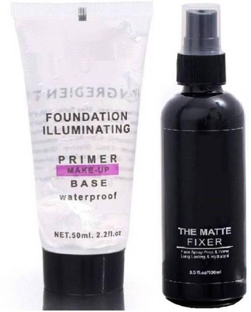 nnbb MAKEUP BASE PRIMER WITH MAKEUP FIXER Primer - 150 ml (TRANSPARENT) (Set of 2)