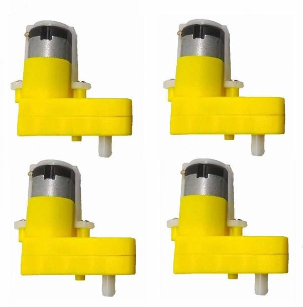 Stookin L Shaped 60 RPM BO Motor Single shaft Gear Motor Power Supply Electronic Hobby Kit