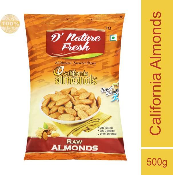 D NATURE FRESH Almond_Raw_P500 Almonds