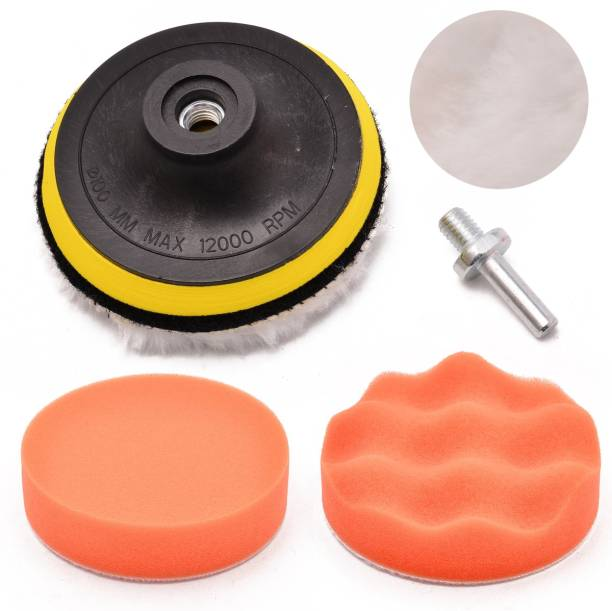 SHAFIRE Compound Drill Buffing Sponge Pads Kit for Car Paint Polisher