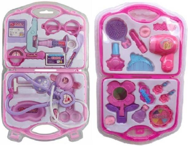 kuku Combo Collection Doctor Play Set And Fashion Beauty Play Set For Your Kids