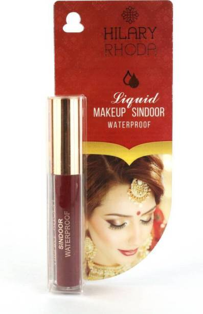 Hilary Rhoda Liquid Makeup Non Dripping and Quick Dry Sindoor With Waterproof - Maroon Sindoor (Maroon) 2