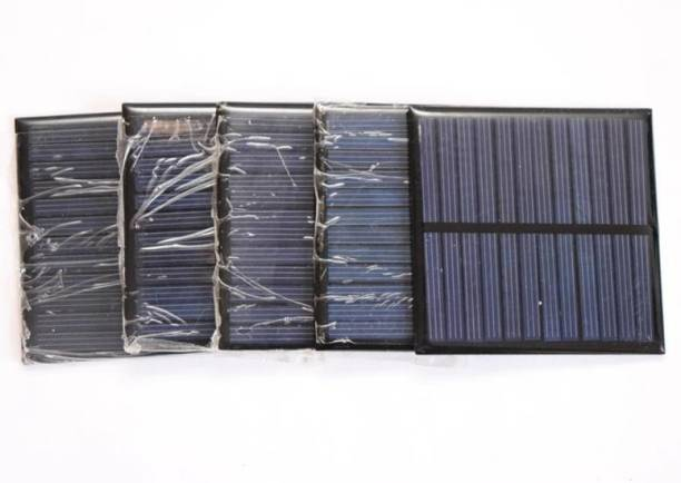 Electronic Spices 6v-100 mAh Pack of 5 Solar Panel