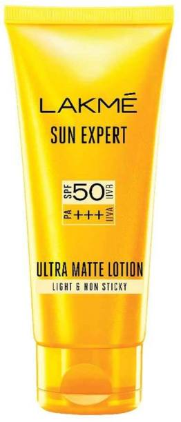 Lakmé Sun Expert SPF 50 PA+++ Ultra Matte Lotion, 100 ml - SPF 50 PA+++