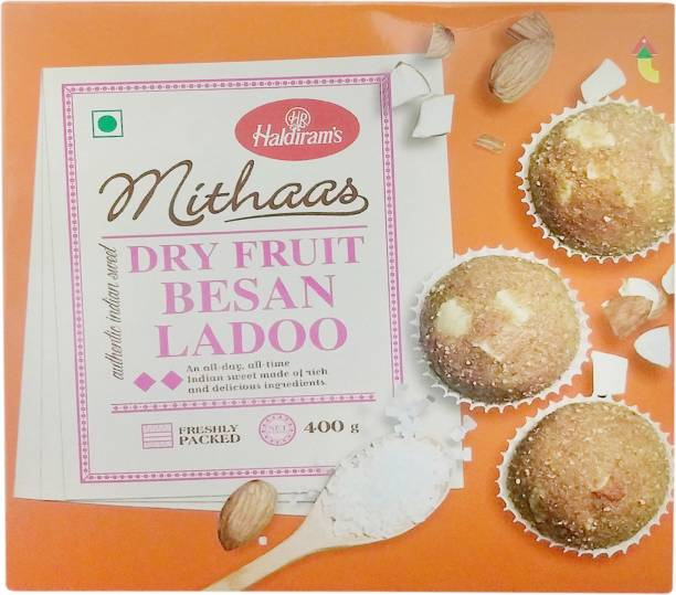 Haldiram's Dry Fruit Besan Ladoo Carton