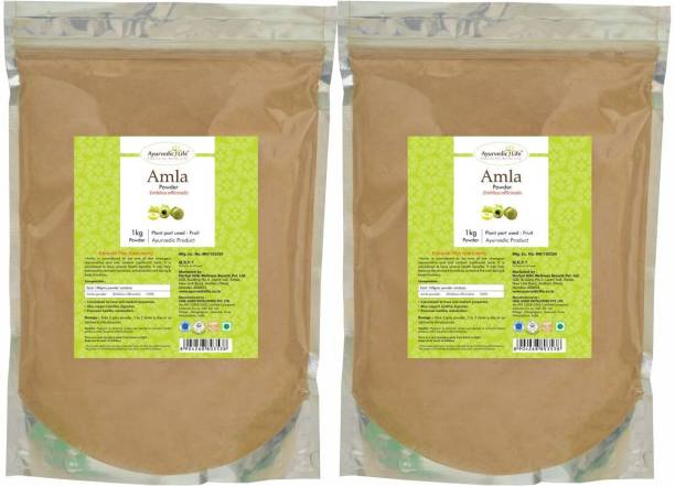 Ayurvedic Life Amla Powder - 1 kg Value Pack of 2