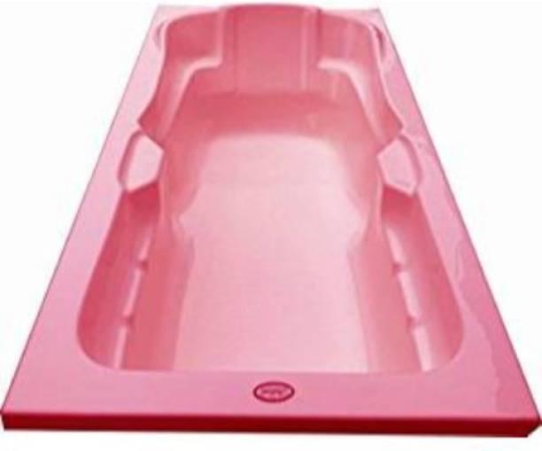 MADONNA Elegant Acrylic 6 feet Rectangular Bath Tub for Adults - Pink(B01J8X9LY0) Undermount Bathtub