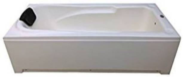 MADONNA Voyage 5.5 ft Portable Acrylic Bath Tub with Front Panel and Head Rest - White(B072K6FTDT) Undermount Bathtub