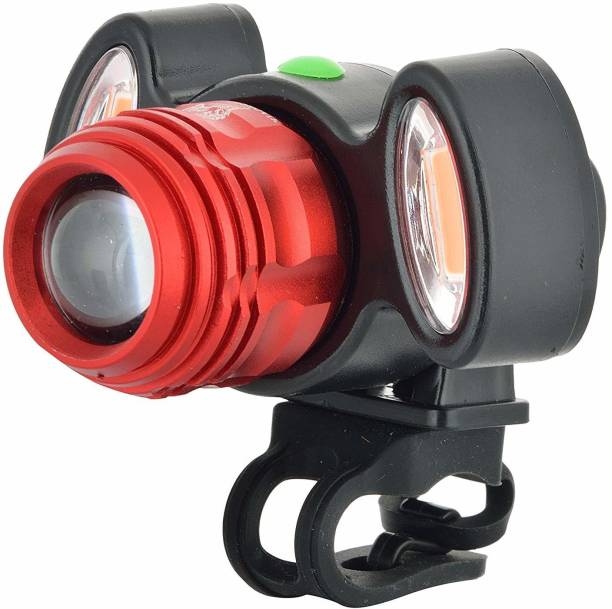 Gadget Deals 4 Mode Headlight Focus Front Light with 2 warning light USB Rechargeable LED Front Light