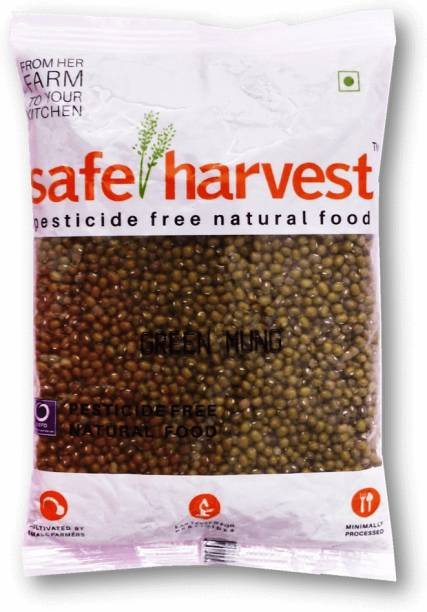 safe harvest Green Moong Dal (Whole)