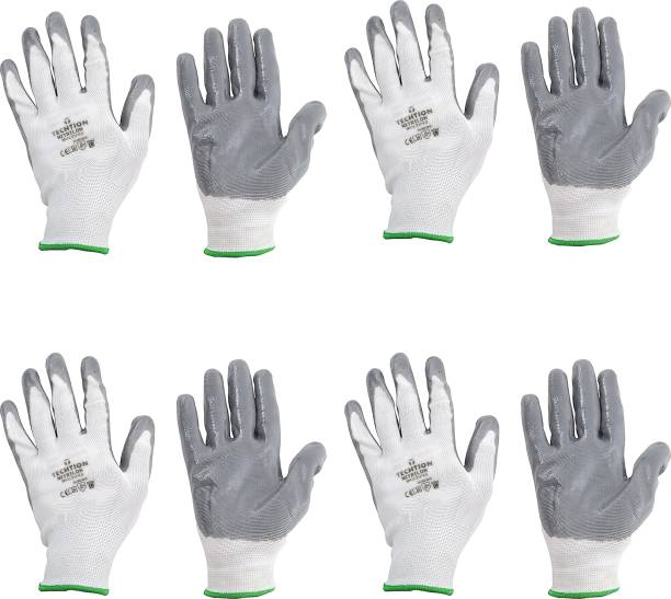 AdroitZ SUPERIOR QUALITY ANTI CUT SAFETY HAND GLOVE-13 Nylon, Synthetic, Latex  Safety Gloves