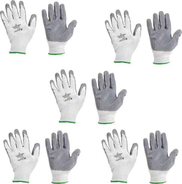 AdroitZ SUPERIOR QUALITY ANTI CUT SAFETY HAND GLOVE-19 Nylon, Synthetic, Latex  Safety Gloves