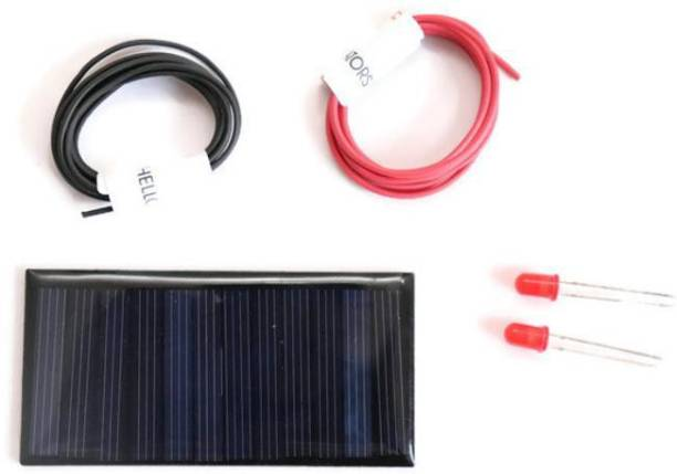 Electronic Spices 6v-60 mAh 2LED2MtrWire Solar Panel