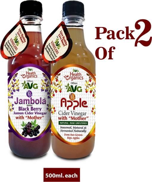 AVG Health Organics Combo of Apple & Jamun Cider Vinegar Vinegar