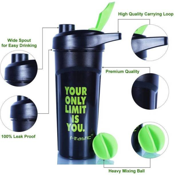 Fitastic Your only limit is you Black Bottle 600 ml Shaker