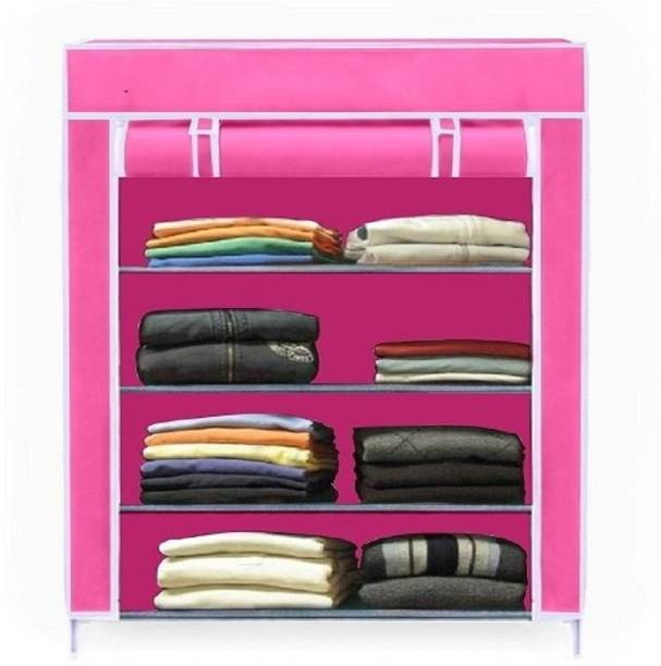 VALTIOR 4 layer pink High Bond PC Collapsible Wardrobe