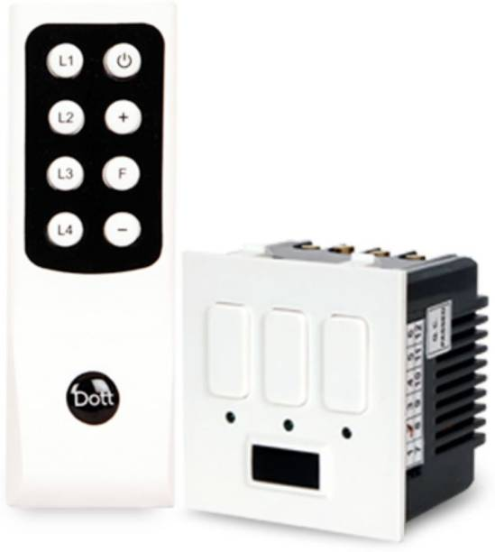 DOTT Cube Modular Remote Switch for 3 Lights, One Way Wireless Electrical Switch(Pack of 1 Remote And 1 Switch)A Home Automation Device. One Way Electrical Switch 5 A One Way Electrical Switch
