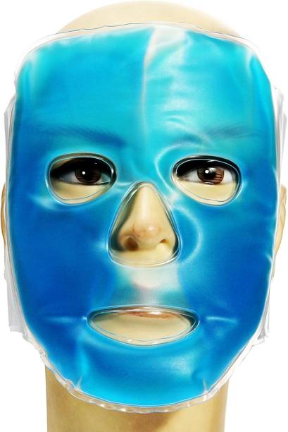 Skylight Blue Hot-Cold Facial Mask fully Velcro strap  Face Shaping Mask
