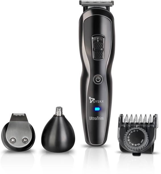 Syska HT3333K  Runtime: 60 min Trimmer for Men