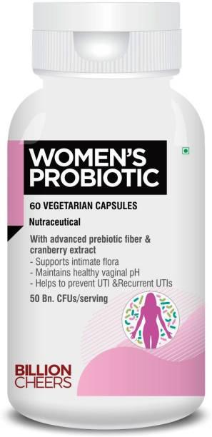 Billion Cheers Women Probiotic (50 billion CFUs) with Prebiotic for Vaginal Health