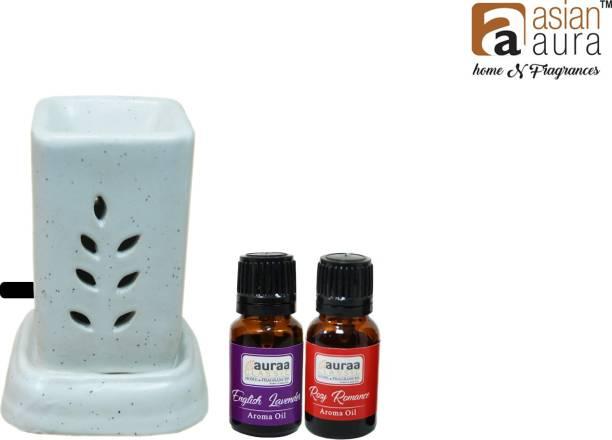 Asian Aura Rosy Romance, English Lavender Aroma Oil, Diffuser, Diffuser Set