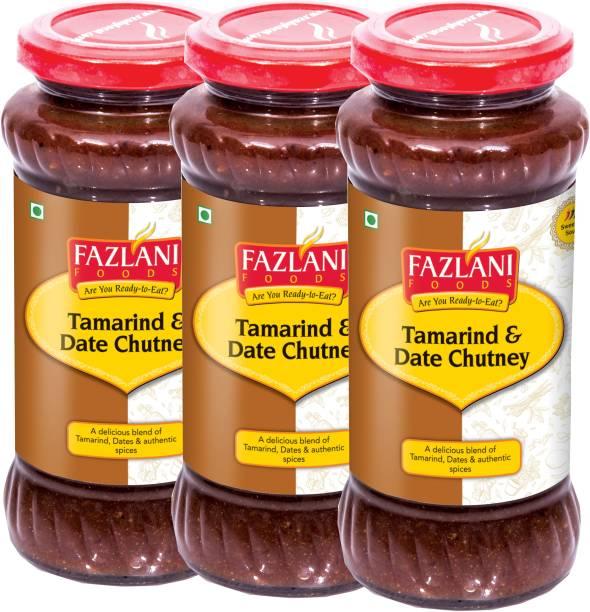 FAZLANI FOODS Ready to Eat Tamrind & Date Chutney (Pack of 3, 350gm each) Chutney Paste
