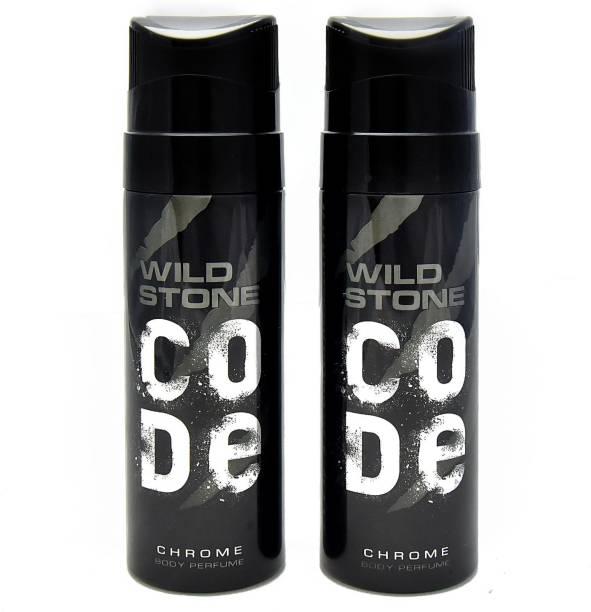 Wild Stone Code Chrome No Gas Deodorant Spray  -  For Men