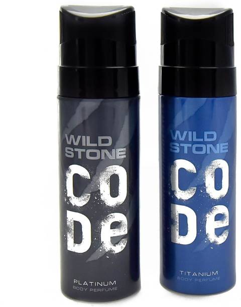 Wild Stone Titanium And Platinum Combo Pack 2 Deodorant Spray  -  For Men