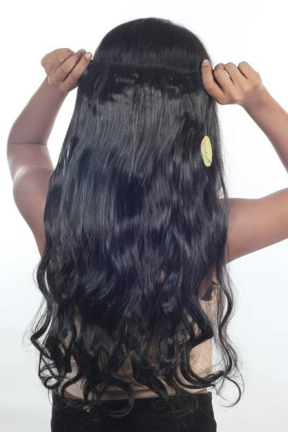 Ritzkart Imported Synthetic Natural Black 25 Hair Extension