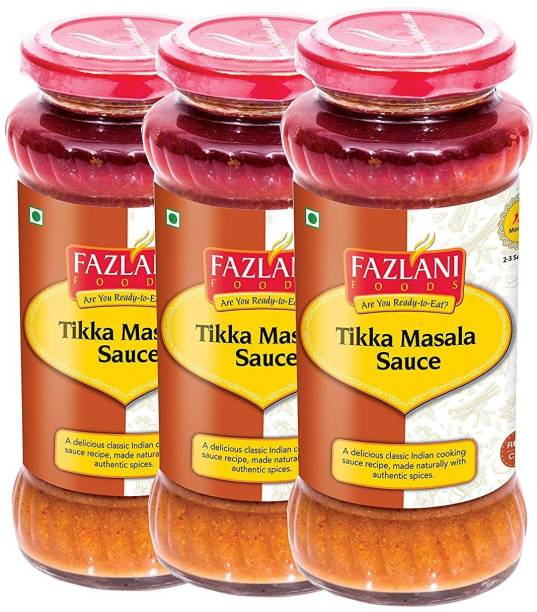 FAZLANI FOODS Ready to Eat Tikka Masala Sauce (Pack of 3, 285gm each) Sauce