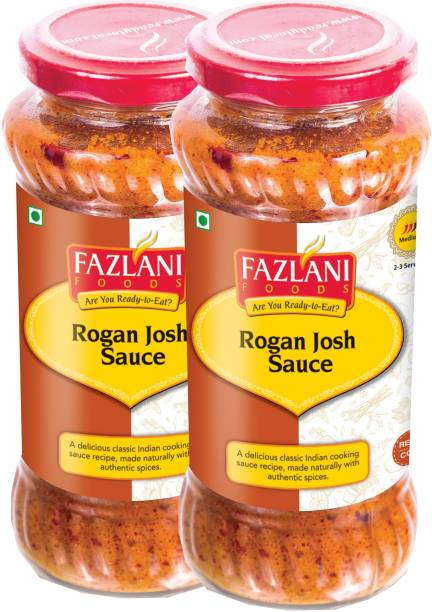 FAZLANI FOODS Ready to Eat Rogan Josh Sauce (Pack of 2, 285gm each) Sauce