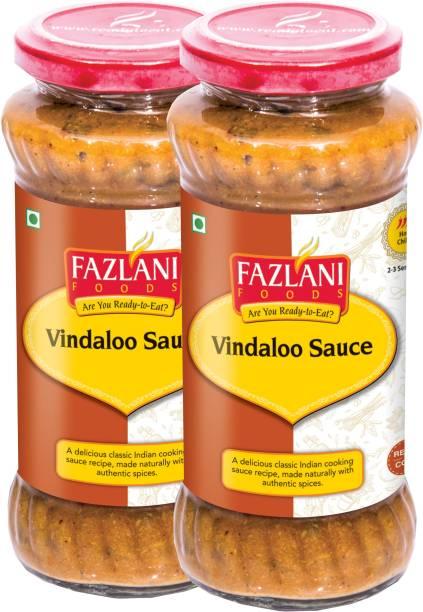 FAZLANI FOODS Ready to Eat Vindaloo Sauce (Pack of 2, 285gm each) Sauce