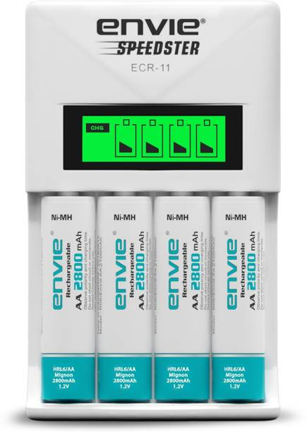 ENVIE Speedster ECR-11 + 4xAA 2800 Ni-MH rechargeable  Camera Battery Charger