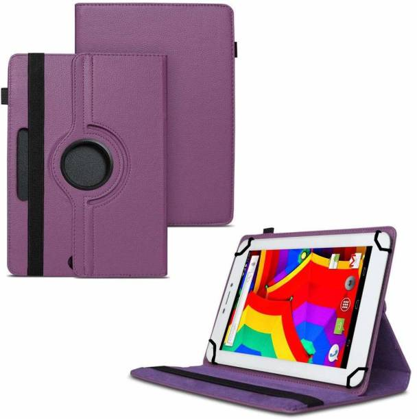 """TGK Flip Cover for Ambrane A3-7 Plus 4 GB Tablet 7"""" / 360 Degree Rotating Universal Case With 3 Camera Hole"""