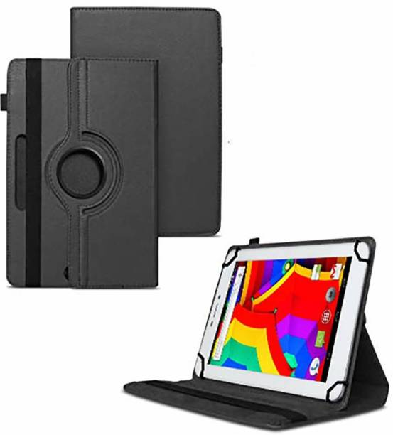 TGK Flip Cover for Ambrane A3-7 Plus 4 GB Tablet 7 inch /360 Degree Rotating Universal Case With 3 Camera Hole
