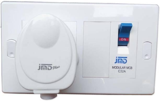 JMD GOLD Modular AC Box with 32Amps Single Pole MCB Enclosure & Heavy Duty ISI Plug Top MCB