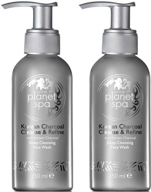 AVON Korean Charcoal Deep Cleansing  (set of 2 of 150ml each) Face Wash