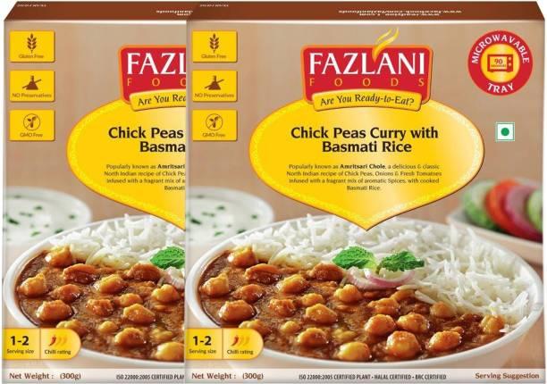 FAZLANI FOODS Ready to Eat Amritsar Chole with Basmati Rice (Pack of 2, 300gm each) 600 g