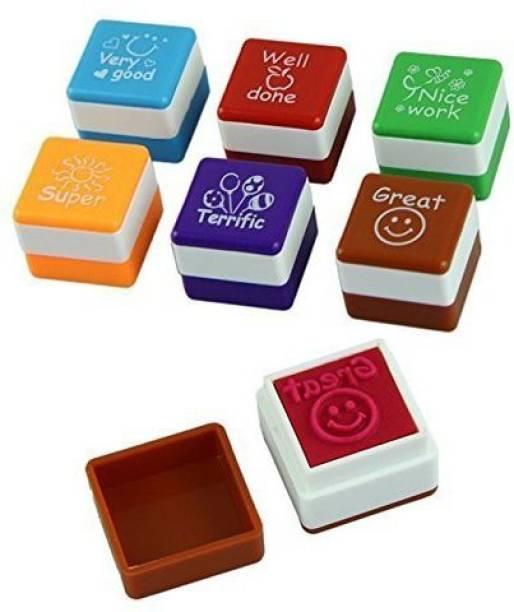 R H lifestyle Motivation Sticker School Scrapbooking Stamp for Kids self inking stamp
