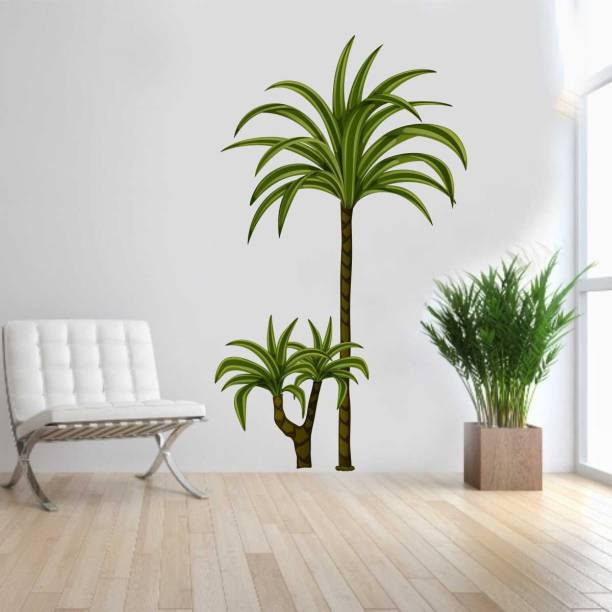 Rawpockets Decals ' Desert Trees ' Large Size Wall Sticker (Wall Coverage Area - Height 95 cms X Width 55 cms )( Pack of 1)