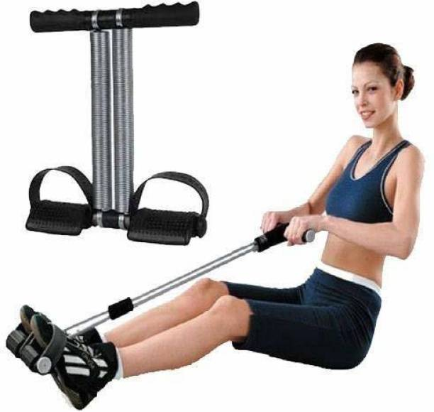AJRO DEAL Tummy Trimmer Stomach and Weight Loss Equipment -Double Spring (Black) Ab Exerciser