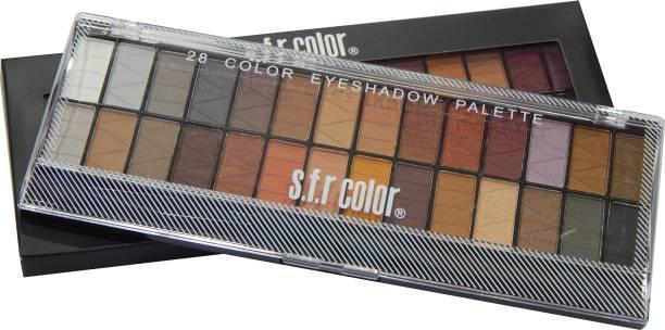 s.f.r color 28 color matte combo eyeshadow palette A 28 g