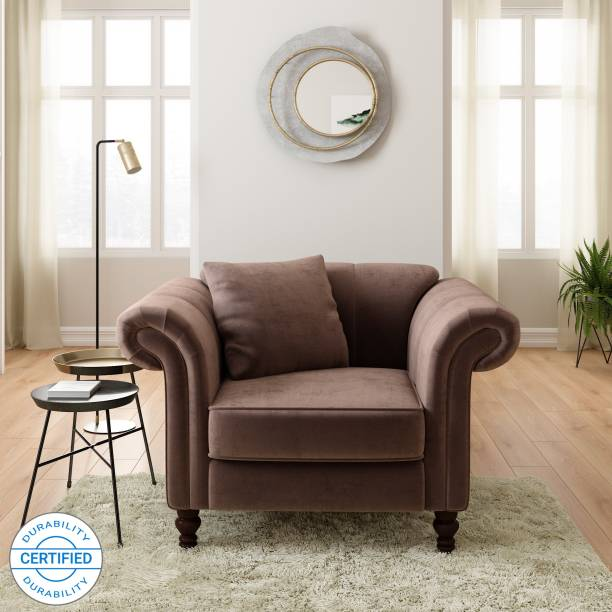 Flipkart Perfect Homes Annecy Fabric 1 Seater  Sofa
