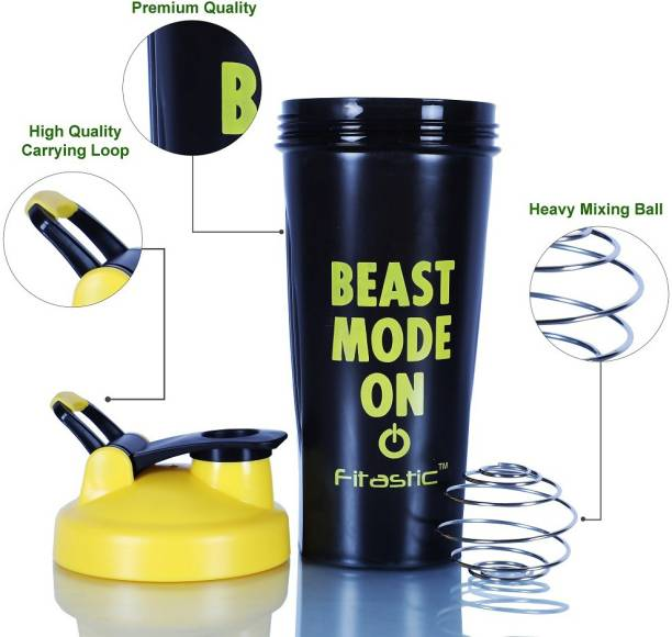 Fitastic Beast Mode On White Shaker 600 ml Shaker